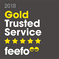Gold trusted service on Feefo